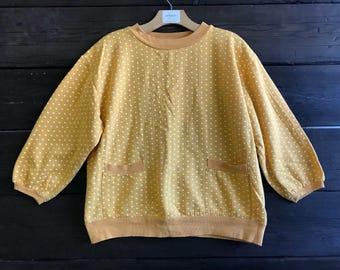Vintage 80s Heart Print Sweatshirt