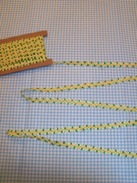 """5  Yards 3/8"""" wide Flat Braid with Loops / Trim for  Doll Clothes"""