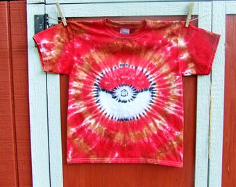 Adult Size Pokemon Team Valor Tie Dye Tshirt - Made to order - Adult S M L XL 2X