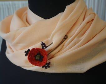 poppy shawl pin