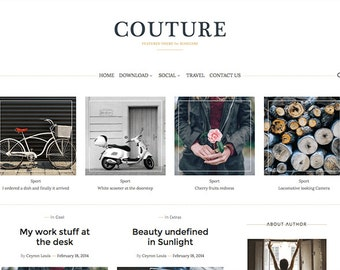 SALE Blogger Template Couture Blog Template