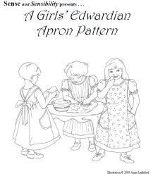 SS123 1910-1912 Edwardian Apron for Girls Sewing Pattern by