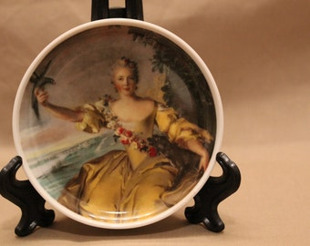 Vintage Kaiser Porcelain Plate • West Germany • Great Masters Painting depicted • Coaster or Butter Pat Plate - #405