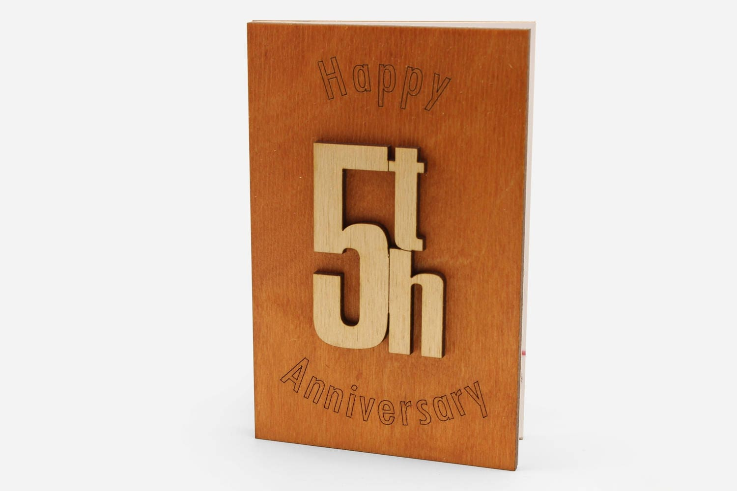 Happy 5th anniversary wood card original wooden 5 years zoom kristyandbryce Choice Image