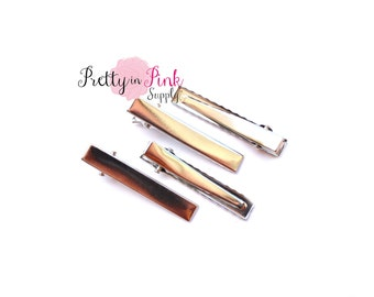 Alligator Clips with Teeth- Choose quantity- Single Prong Hair Clips- Alligator Clip...DIY Hair Clip...Wholesale...Baby Girl
