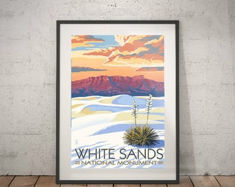 white sands, white sands national monument, wall decor, vintage