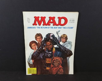 Mad Magazine No 242 October 1983 Star Wars Return of the Jedi and The A-Team