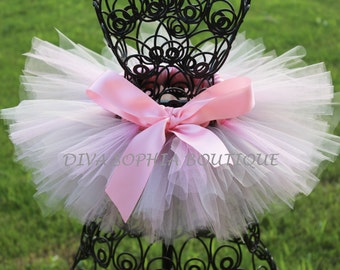 Pink and Gray Tutu for Newborn - Infants - Toddlers