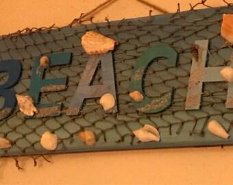 Nautical Beach Decor Sign