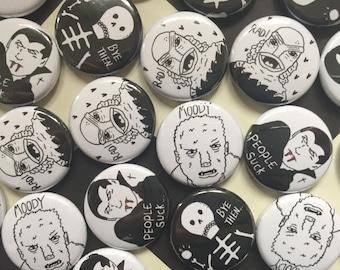 Horror Button Badges.