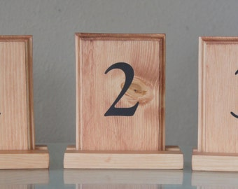 Rustic Wedding Or Event Wood Table Number With Holders - Custom restaurant table numbers