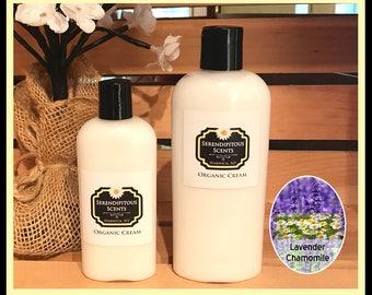 Lavender Chamomile Lotion Organic, Lavender Chamomile Cream Organic, Lavender Chamomile Body Lotion, Natural Chamomile Lavender Body Lotion