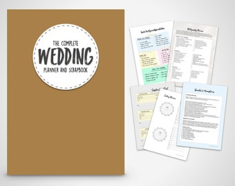 wedding planner coral printable wedding planner scrapbook