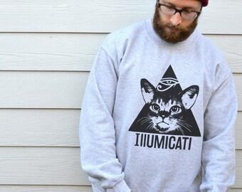 Cat Sweatshirt, Cat Jumper, Cat Sweater, Sweatshirts, Cat Sweatshirt Women, Cat Gift, Gift For Mum, Cat Gift Women, Womens Gifts, Cat Print