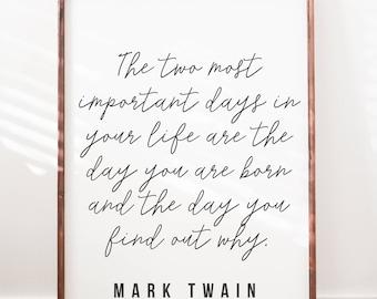 Mark Twain Quote - Wood Sign