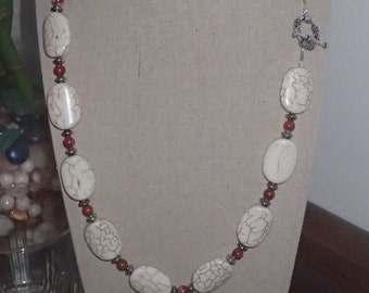 White Marble Magnesite necklace