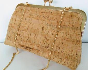 vegan cork leather southwestern  rustic wedding beach wedding clutch purse  BBsCustomClutches READY TO SHIP