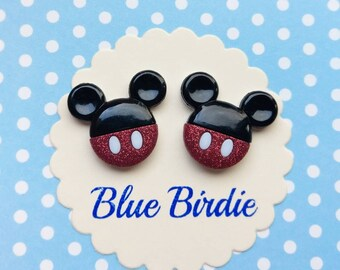 Mickey Mouse earrings Disney earrings Mickey Mouse jewelry Disney jewelry Mickey Mouse stud earrings Disney trip Mickey Minnie gifts for her