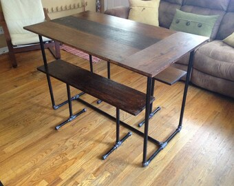 """The """"Leaf"""" - kitchen table and benches"""