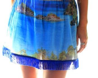 Caribbean Mini Skirt - Sarong Beach Cover Up