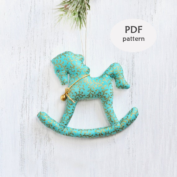 Stuffed Rocking Horse Pattern. Sewing Christmas Gifts. Rocking Horse ...