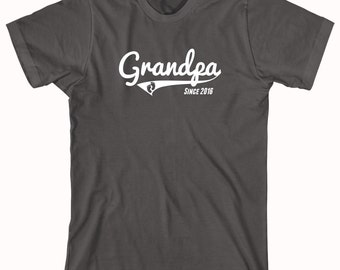 Grandpa Since 2016 shirt, gift for dad, new grandpa, new baby - ID: 788