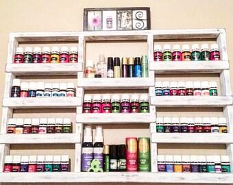 oil shelf, essential oil storage, oil display, oil case, wall shelf, nail polish rack, nail polish shelf, farmhouse decor, wood shelf