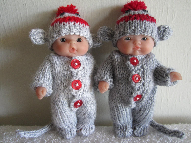Sock Monkey Knitting Pattern 5 Inch Chubby Lots to Love