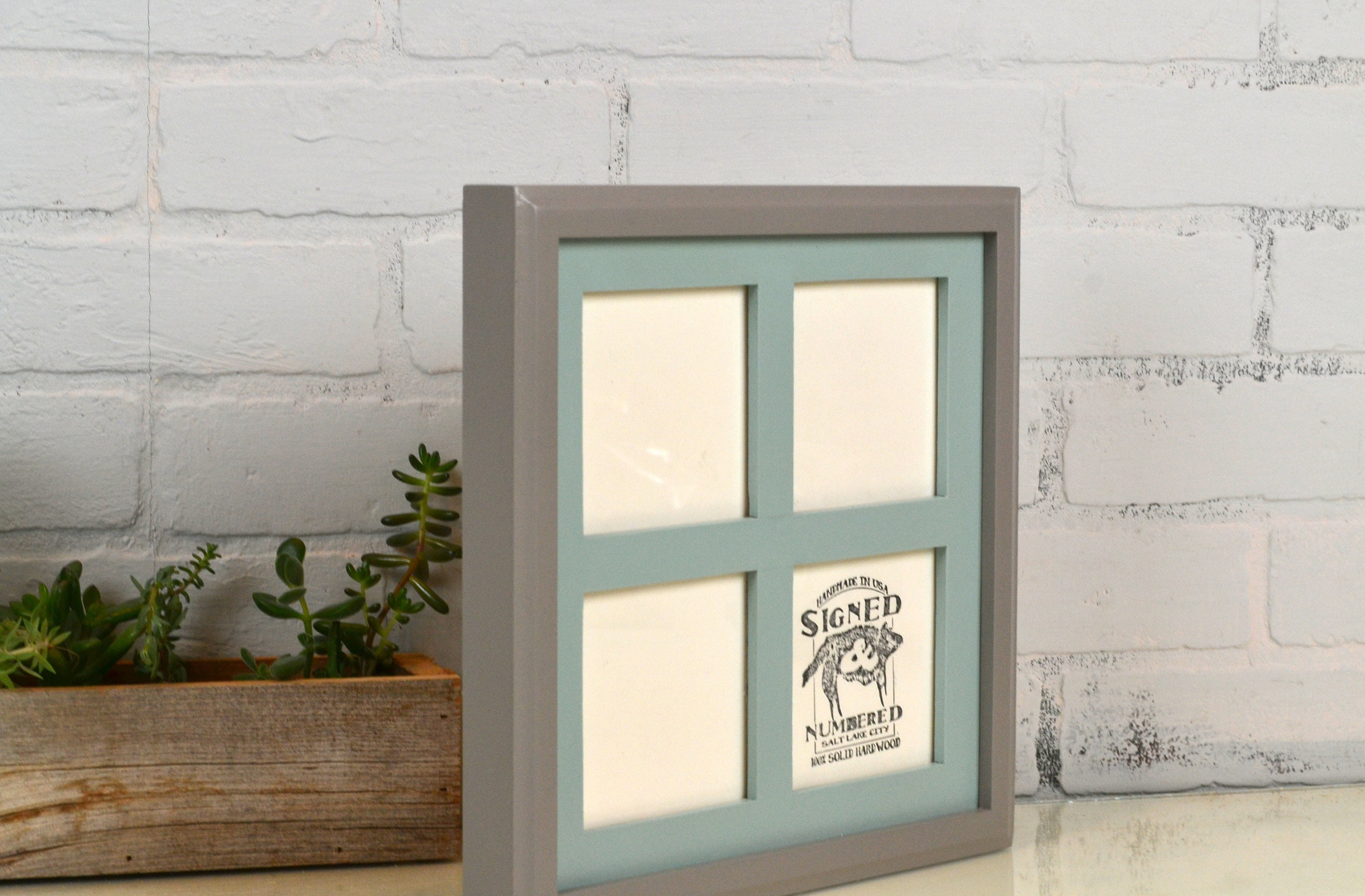 Window Pane Style Multiple Opening Frame for (4) 4x4 Photos in SOLID ...