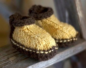 Knitting Pattern - Baby Booties - Knit Baby Booties - Baby Booties Pattern - Slippers - Shoes - Wool Slippers - Baby Slippers