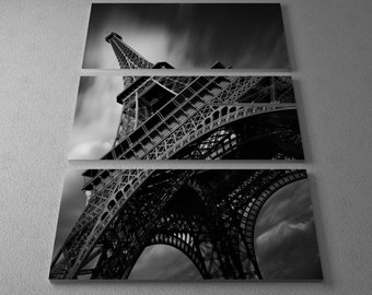 Eiffel Tower Study II by Moises Levy Gallery Wrapped Canvas Triptych Print