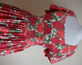 50's Dress and Bolero. Carnations.