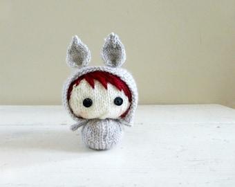Cute Stuffed Animal, Baby Doll, Bunny stuffed animal, ready to ship - Mini Bunny Baby Veronica