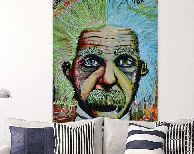 Albert Einstein street art canvas pop art canvas