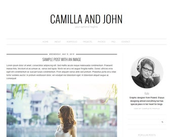 """Blogger Template, Blog Template - """"Camilla 