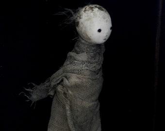 Art Doll OOAK Clay Sculpt - A Darkling named Lenya