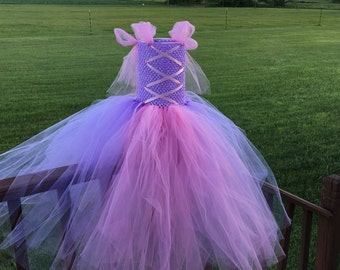 Rapunzel tutu dress, princess birthday dress, infant, toddler, girl's costume, party like a princess,