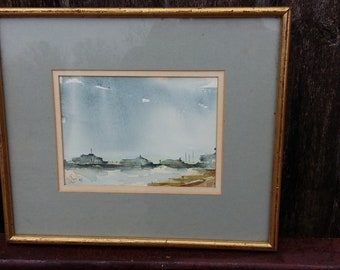 Original Vintage Watercolour of Worthing Pier