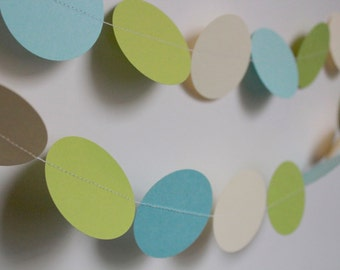 Boy Baby Shower Decoration. Paper Garland. 5 Foot Long