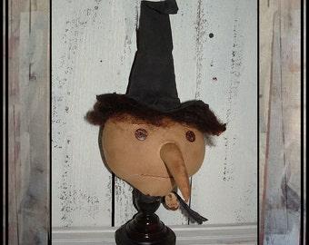 SALE Primitive folk art witch make do HAFAIR HAGUILD ofg faap American made