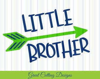 Little brother SVG Cut File, Brother SVG DXF Cricut svg Silhouette svg Vinyl Cut File Digital cut file Cricut cut file Silhouette sibling