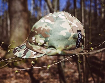 Cycling cap camo