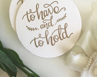 To Have and To Hold, Wedding Coasters, Wedding Coaster Favors, Gold Coasters, For Drinks, Coaster Wedding Favors, Wedding Table Decor