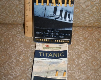 """Rare 1998 """"The Complete Titanic from the Ship's Earliest Blueprints to the Epic Film"""" by Stephen J. Spignesi!  Like New + Bonus Book!"""