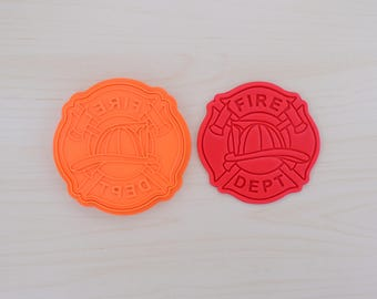 Fire Department Logo Cookie Cutter and Stamp Set