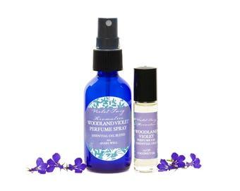 Woodland Violet Perfume - Artisan Perfume - Natural Violet Perfume - Essential Oils - Perfume Spray - Perfume Oil - Perfume for Women