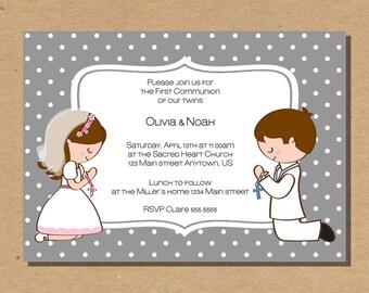 first communion invitations boy, communion invitations boy, remembrance cards, confirmation invite, digital files