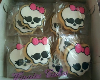 12 Monster High Inspired Cookies
