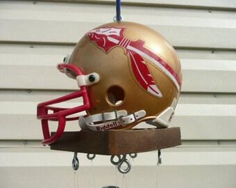 Florida State Seminoles mini football Helmet One of A Kind Wind Chime
