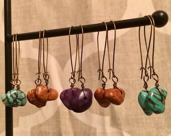 Brass Kidney Wire Earrings | French Hoop Earrings | French Hoops | Long Earrings | Dangle Earrings